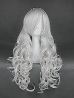 cheap -Cosplay Wig Rosiel Angel Sanctuary Curly Cosplay Halloween With Bangs Wig Long Silver Synthetic Hair 35 inch Women's Anime Cosplay Soft Silver