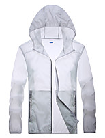 cheap -Men's Hiking Skin Jacket Hiking Jacket Summer Outdoor Waterproof Windproof Sunscreen Breathable Jacket Top Running Camping / Hiking Hunting White / Grey / Dark Blue / Light Blue