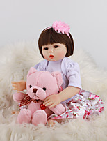cheap -FeelWind 18 inch Reborn Doll Baby & Toddler Toy Reborn Toddler Doll Baby Girl Gift Cute Lovely Parent-Child Interaction Tipped and Sealed Nails Full Body Silicone LV041 with Clothes and Accessories
