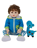 cheap -FeelWind 18 inch Reborn Doll Baby & Toddler Toy Reborn Toddler Doll Baby Boy Gift Cute Lovely Parent-Child Interaction Tipped and Sealed Nails Full Body Silicone with Clothes and Accessories for