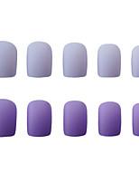 cheap -24pcs Plastics Matte Creative False Nails Double purple Nubuck tiaofeng fake nail pieceArtificial Nail Tips Fake Nails