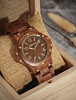cheap -Men's Sport Watch Japanese Quartz Wood Wooden Day Date Analog Fashion Cool - Brown One Year Battery Life