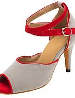 cheap -Women's Dance Shoes Latin Shoes Heel Cuban Heel Gray / Performance