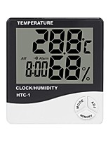 cheap -HTC-1 Thermohygrometer Single Temperature Large Screen Household Electronic Thermohygrometer With Alarm Clock