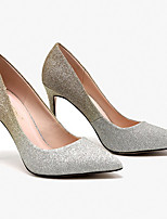 cheap -Women's Heels Spring / Summer Stiletto Heel Pointed Toe Daily Faux Leather Pink / Champagne
