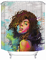cheap -Oil Painting Fashion Woman Shower Curtains & Hooks Modern Polyester New Design