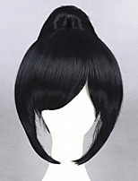 cheap -Cosplay Wig Yamatonokami Yasusada Touken Ranbu Straight Cosplay Asymmetrical With Bangs Wig Medium Length Black / Blue Synthetic Hair 24 inch Women's Anime Cosplay Women Black