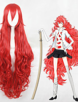 cheap -Cosplay Wig Padparadscha Land of the Lustrous Curly Cosplay With Bangs Wig Very Long Red Synthetic Hair 43 inch Women's Anime Cosplay Best Quality Red