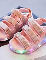 cheap -Boys' LED Shoes PVC Sandals Little Kids(4-7ys) Black / Pink / Beige Summer