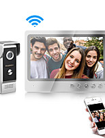 cheap -WiFi Intercom Video Doorbell Intercom System 9 Inch Wired Video Door Phone Doorbell Camera with Snapshot and Video Record