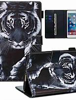 cheap -Case For Apple iPad Mini 3/2/1 / iPad Mini 4 / iPad Mini 5 Wallet / Card Holder / with Stand Full Body Cases Black and White Tiger PU Leather / TPU