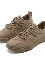 cheap -Men's Summer / Fall Casual / Chinoiserie Daily Outdoor Sneakers PU Breathable Non-slipping Khaki / Gray