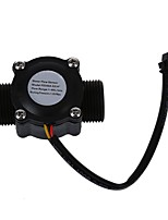 cheap -Water Flow meter Hall flow Sensor Flowmeter pool float switch indicator Counter for water heater fuel gauge 1-60L/min DN20