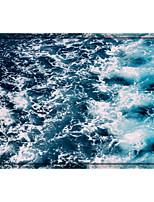 cheap -Digital Print Ocean Printed Memory Foam Bath Mat Non Slip Absorbent Bathroom Mat Super Soft Microfiber Bath Mat Set Super Cozy Velvety Bathroom Rug Carpet