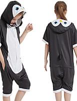 cheap -Kid's Kigurumi Pajamas Penguin Onesie Pajamas Silk Fabric Black Cosplay For Boys and Girls Animal Sleepwear Cartoon Festival / Holiday Costumes / Leotard / Onesie