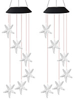 cheap -2pcs 1pc 6 W Wishing Ball Lawn Lights LED Solar Lights Outdoor Lights Camping Lights Waterproof  Wind Chimes Solar Powered Creative Color-changing 2 V Courtyard  Garden 6 LED Beads