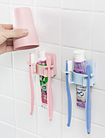 cheap -Bathroom Accessories Disc Multicard Slot Toothbrush Holder Rack Toothbrush Organizer Hanging Set Storage Wall-mounted Toothbrush Random Color