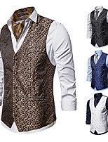 cheap -Gentleman Kingsman Vintage Masquerade Vest Waistcoat Men's Slim Fit Costume White / Black / Navy Blue Vintage Cosplay Event / Party Sleeveless