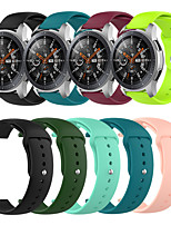 cheap -Sport Silicone Wrist Strap Watch Band for Samsung Galaxy Watch 46mm / Gear S3 Classic / S3 Frontier / Garmin Fenix Chronos Replaceable Bracelet Wristband