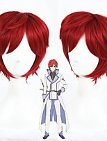 cheap -Cosplay Wig Reinhard van Astrea Zero kara Hajimeru Isekai Seikatsu Curly Cosplay Halloween With Bangs Wig Short Red Synthetic Hair 14 inch Men's Anime Cosplay Party Red