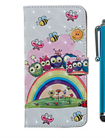 cheap -Case For Samsung Galaxy S20 S20 Plus S20 Ultra Wallet Card Holder with Stand Full Body Cases Rainbow Owl Family PU Leather TPU for Galaxy A51 A71 A01 A50(2019) A30S(2019) A70(2019) A20(2019)