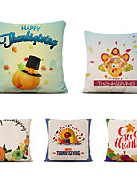 cheap -Set of 5 Farm Harvest Thanksgiving Theme Pillow Case Cushion Cover Lemon Summer Linen Home