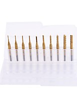 cheap -Durable 0.8mm-3.175mm Titanium Coated Carbide Milling Cutter Engraving Edge Cutter CNC Router Bits End Mill for PCB Machine