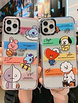 cheap -Case For Apple iPhone 12 / iPhone 11 / iPhone 12 Pro Max Shockproof Back Cover Transparent / Animal TPU