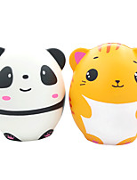 cheap -Squishy Squishies Squishy Toy Squeeze Toy / Sensory Toy Jumbo Squishies Cat Panda Stress and Anxiety Relief Super Soft Slow Rising PU For Kid's Adults' Boys and Girls Gift Party Favor 2 pcs