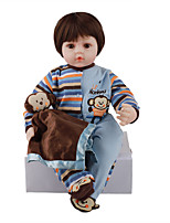 cheap -FeelWind 24 inch Reborn Doll Baby & Toddler Toy Reborn Toddler Doll Baby Boy Gift Cute Lovely Parent-Child Interaction Tipped and Sealed Nails 3/4 Silicone Limbs and Cotton Filled Body LV065 with
