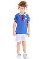 cheap -Kids Boys' Basic Striped Print Short Sleeve Clothing Set White