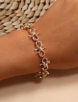 cheap -Women's Vintage Bracelet Bracelet Retro Lucky Simple Classic Vintage Trendy Fashion Alloy Bracelet Jewelry Gold For Anniversary Date Birthday Beach Festival