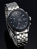 cheap -Men's Mechanical Watch Automatic self-winding Stainless Steel 30 m Water Resistant / Waterproof Calendar / date / day Noctilucent Analog Fashion Cool - Black / Silver White+Silver One Year Battery