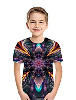 cheap -Kids Boys' Street chic 3D Short Sleeve Tee Purple