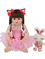 cheap -FeelWind 18 inch Reborn Doll Baby & Toddler Toy Reborn Toddler Doll Baby Girl Gift Cute Lovely Parent-Child Interaction Tipped and Sealed Nails Full Body Silicone LV068 with Clothes and Accessories