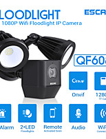cheap -ESCAM QF608 1080P LED Floodlight WiFi IP Camera PIR Detection Alarm HD Security Two Way Talk Remote Siren Support ONVIF IP66