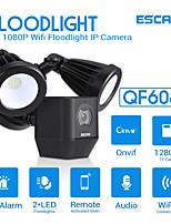 Недорогие -escam qf608 1080p прожектор wifi ip-камера пир сигнализация двухсторонняя связь сирена onvif ip66
