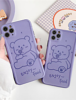 cheap -INS Korea cute funny birthday party blue hat bear couple phone case for iphone Xs MAX se 2020 XR X 7 8 plus soft TPU back cover