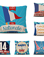 cheap -Set of 6 Home Cushion Cove Bastille Day Pillow Sofa Covers 45cmx45cm Bed Printed Pillow Case