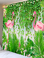 cheap -Vine pattern of flamingos tapestry or background cloth or decorative cloth