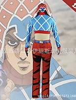 cheap -Inspired by JoJo's Bizarre Adventure Mista Guido Anime Cosplay Costumes Japanese Cosplay Suits Top Pants Hat For Men's / Waist Belt