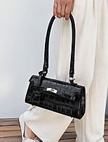 cheap -Women's PU Top Handle Bag Leather Bags Solid Color White / Black / Khaki
