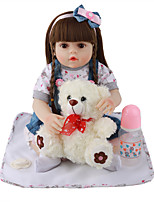 cheap -FeelWind 18 inch Reborn Doll Baby & Toddler Toy Reborn Toddler Doll Baby Girl Gift Cute Lovely Parent-Child Interaction Tipped and Sealed Nails 3/4 Silicone Limbs and Cotton Filled Body LV080 with