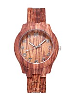 cheap -Women's Quartz Watches Quartz Stylish Fashion Adorable Wood Brown Analog - Wood White Brown One Year Battery Life