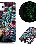 cheap -Case For Apple iPhone 11 / iPhone 11 Pro / iPhone 11 Pro Max Glow in the Dark / Pattern Back Cover Flower TPU