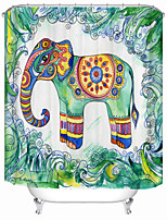 cheap -Bohemian ethnic elephant Print Shower Curtains & Hooks Modern Polyester New Design