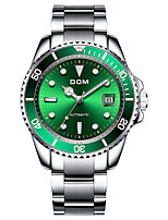 cheap -Men's Mechanical Watch Automatic self-winding Stylish Stainless Steel Silver 30 m Water Resistant / Waterproof Calendar / date / day Analog Fashion - Black Blue Green One Year Battery Life