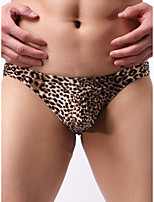 cheap -Men's Print Briefs Underwear - Normal Low Waist Black Yellow Brown M L XL
