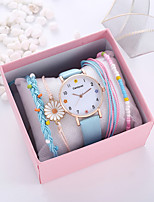 cheap -Women's Quartz Watches Quartz Novelty Casual Chronograph PU Leather Black / White / Pink Analog - White Black Blue