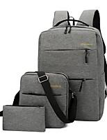 cheap -Unisex Zipper PU Leather / Oxford Cloth Bag Set 2020 Solid Color 3 Pcs Purse Set Black / Blue / Red